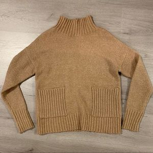 Tan mock turtle neck sweater from Nordstrom
